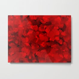 Rich Scarlet Red Gradient Abstract Metal Print