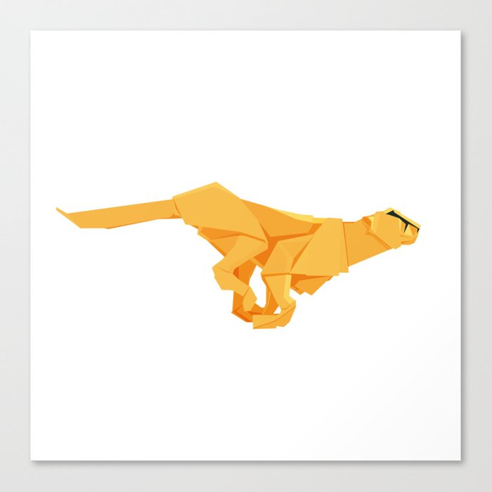 Origami Cheetah Canvas Print