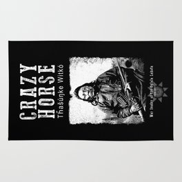 Crazy Horse-Lakota Chief-Warrior-Sioux-Native American-Indian-History Rug