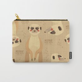 Meerkat, African Wildlife Carry-All Pouch