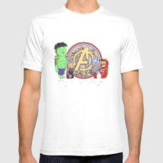 Sgt. Avengers MEDIUM White Mens Fitted Tee