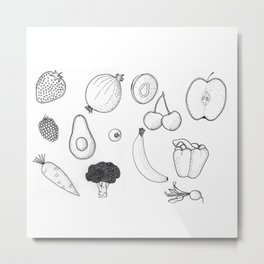 fruit & veg Metal Print