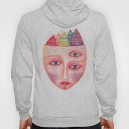 girl with the most beautiful eyes mask portrait Hoody