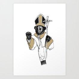 The Bear Pope Art Print