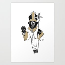 The Bear Pope Art Print