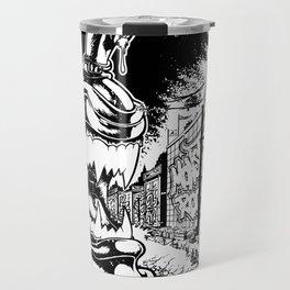 Graffiti - CANZILLA - Retro SciFi Monster Comic Cover Travel Mug