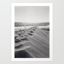 Walking the beach NO1 Art Print
