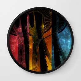 Colorful Space Needle Wall Clock
