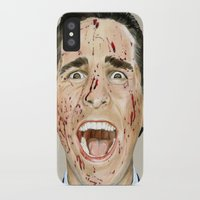 american psycho iPhone & iPod Cases featuring American Psycho by JackyAttacky