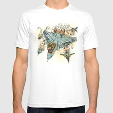 Tyrannosquadron Rex! SMALL White Mens Fitted Tee