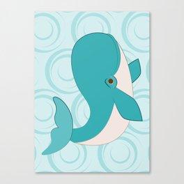 Shock Cousteau Whale Canvas Print