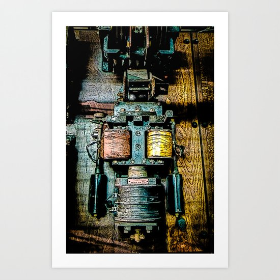 Contact .... Standby Art Print