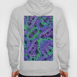 Green and purple film ribbons Hoody
