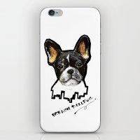 french bulldog iPhone & iPod Skins featuring French Bulldog by Det Tidkun