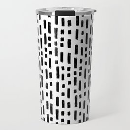 linocut dots and dashed stripes spots minimalist decor gifts hipster friendly Travel Mug