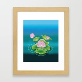 Pink lotus Framed Art Print