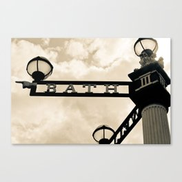The Only Way is Bath Canvas Print