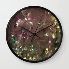 Antique Bronze Abstract Low Polygon Background Wall Clock