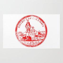 Washington DC Seal Rubber Stamp Rug