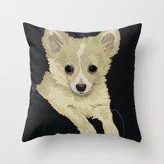 Long Hair Chihuahua Throw Pillow