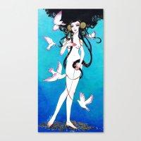 venus Canvas Prints featuring Venus by Leilani Joy
