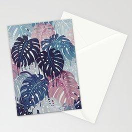 Monstera Melt Stationery Cards