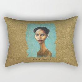 Portrait of Ayaan Hirsi Ali Rectangular Pillow