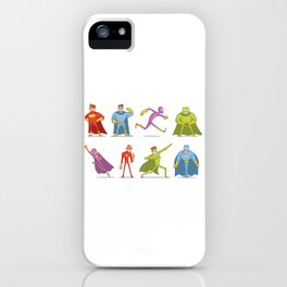 Funny Superheroes iPhone Case
