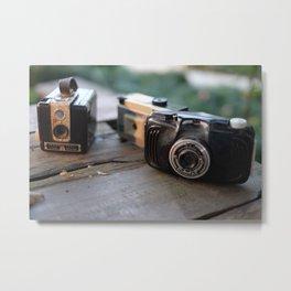 Retro Cameras Metal Print