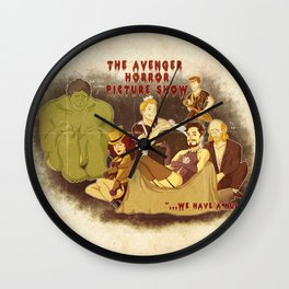 The Avenger Horror Picture Show Wall Clock