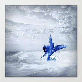 Mermaid Tail Stormy Sea Canvas Print