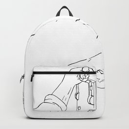 Hand Pulling Frankenstein Light Throw Switch Drawing Backpack