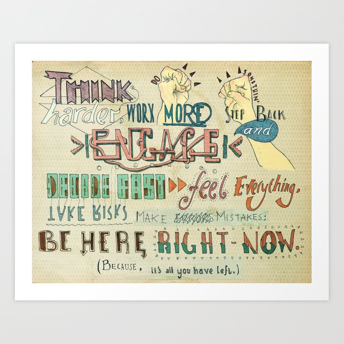 To Do Something. Art Print