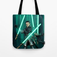 jedi Tote Bags featuring Tesla - Jedi Consular by Salty!