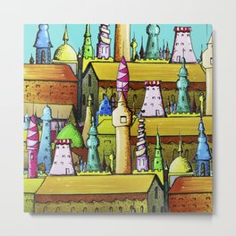 bright pattern of the houses Metal Print
