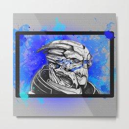 Garrus Vakarian: Mass Effect (color) Metal Print