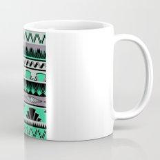 art deco stripes - green & pale purple Mug