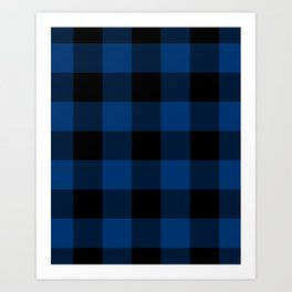 Royal Blue Buffalo Check Plaid Art Print