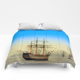 Sail Boston - Oliver Hazard Perry Comforters