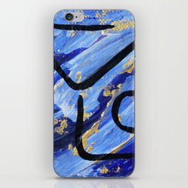 Forearm stand pose abstract iPhone Skin