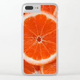 Orange Clear iPhone Case