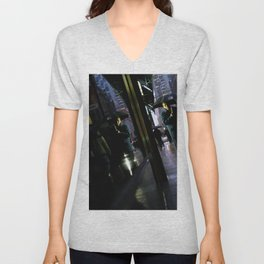 New York Rain Unisex V-Neck