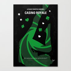 No277-007-2 My Casino Royale minimal movie poster Canvas Print