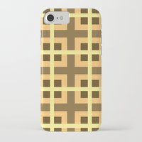 yellow pattern iPhone & iPod Cases featuring Pattern Yellow by BobbyK