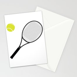 Tennis Racket And Ball 1 Stationery Cards
