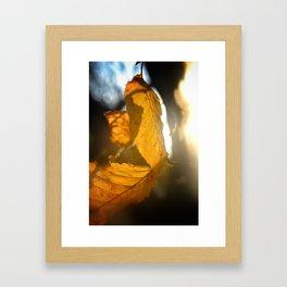 The last sunbeam Framed Art Print