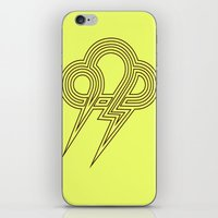 lightning iPhone & iPod Skins featuring Lightning by Heiko Hoos