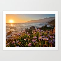big sur Art Prints featuring Big Sur by Chris Flores