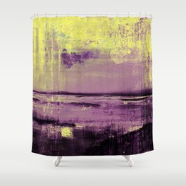 Yellow Color Patches Shower Curtain