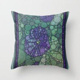 Percolated Purple Potato Flower Throw Pillow